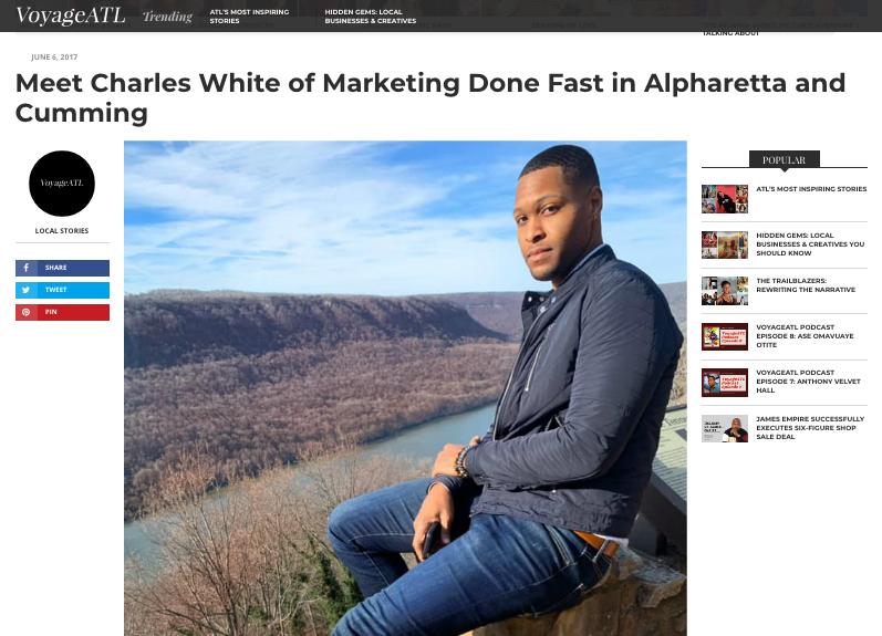 Meet Charles White: Franchise Digital Marketer